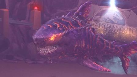 肉肉 侏罗纪世界恐龙游戏1124巨型巨齿鲨!