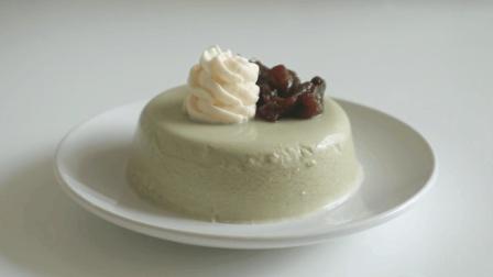香滑Q弹的抹茶奶油布丁, 简易美味的甜点