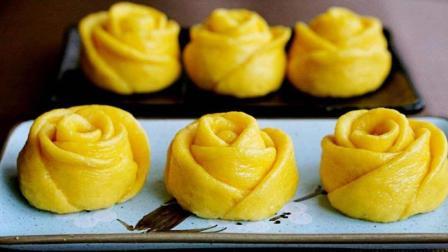 你家馒头吃腻了吗? 教你做玫瑰花一样的南瓜馒头, 做法简单又好吃