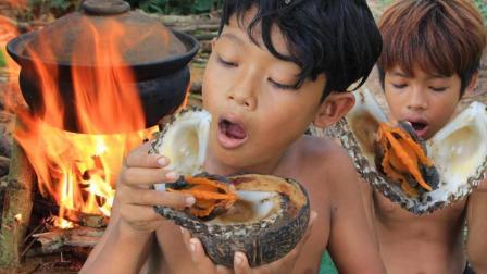 荒野熊孩的嘴上美食, 瓦锅煮蛤蜊, 蘸上这料吃完还想吃