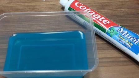 1分钟学会用牙膏做透泰水晶泥, 史莱姆简单教程, 玩起来像假水