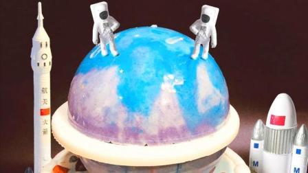 INS网红抖音同款星空星球蛋糕制作方法
