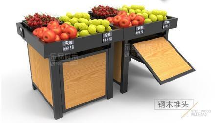 乐品钢木水果货架堆头安装视频