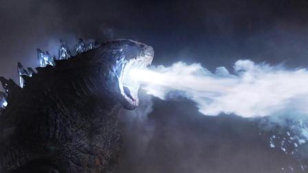 远古巨兽被唤醒, 喷出10万度的热能射线, 秒杀它的死敌! 速看科幻电影《哥斯拉》