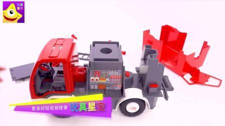 儿童拼搭消防车玩具 乐高消防员与消防车