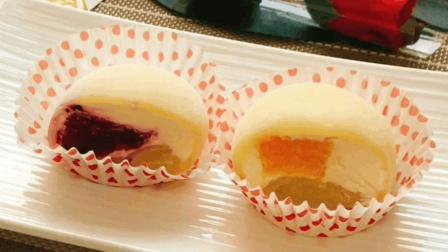 三伏天, 吃一口冷藏自制雪媚娘, 如果在配上西瓜和空调, 太美了