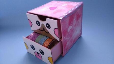 食品包装盒别再扔了, 教你加工成桌面小抽屉, 简单可爱又实用