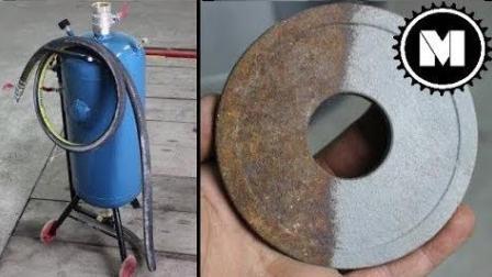 自制喷砂除锈机,效果强悍,除锈很快捷