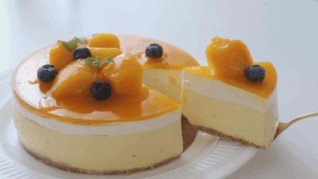 不用烘烤的芒果芝士蛋糕, 清爽香甜的甜品