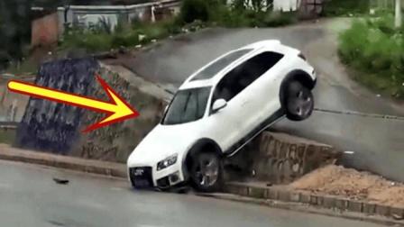 女司机新手上路, 副驾男子一直狂叫踩刹车, 结果就这么踩没了!