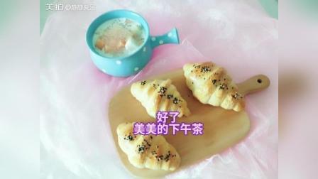 牛角包+椰汁黄桃西米露
