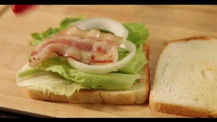 营养好吃的培根鸡蛋三明治, 做起来很简单