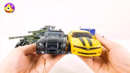 变形金刚霸天虎汽车人大擂台 路障和大黄蜂谁更帅呢