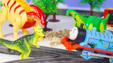 小火车托马斯的恐龙拼装玩具