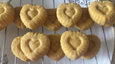 玉米面饼干的做法, 无糖低油酥脆可口, 适合糖尿病人食用