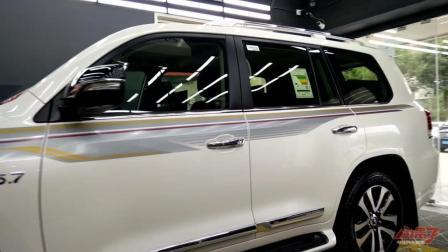 丰田酷路泽570龙膜G2漆面保护膜施工实拍
