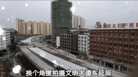 实拍赣州最长的高架桥快速路什么样