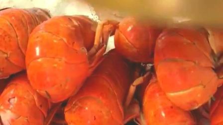 盐焗南美大对虾美食小吃, 鲜嫩甜美肉肥厚, 你流口水了吗