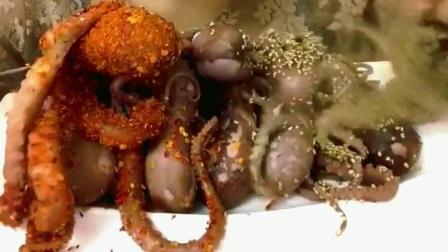 盐焗海螺肉美食小吃, 味道这么鲜美, 谁的口水流满地了呢