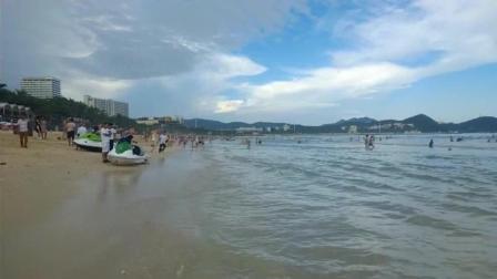海南三亚攻略: 大东海旅游区海边, 让海风吹拂这个炎热的夏季!