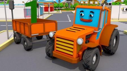 展示小汽车越野车和卡车玩具