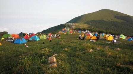 航拍: 张家口海坨山重装露营穿越18.8.4
