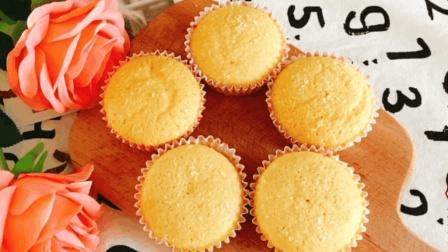 椰蓉纸杯蛋糕这样做, 松软可口, 椰蓉+鸡蛋真是不一样