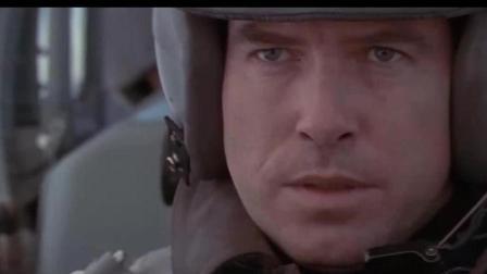 明日帝国: 邦德开战斗机, 遇副驾偷袭, 一键弹射救了他