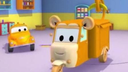 汽车城的汤姆帮三轮车嘉莉变装成猴子