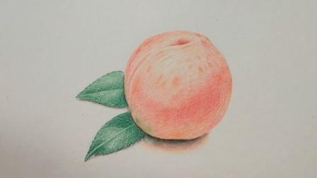 彩铅画: 怎样让画的桃子看起来更诱人, 诀窍就在这里!