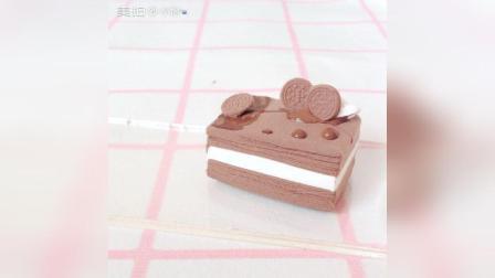 巧克力奶油夹心黏土蛋糕DIY