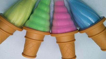 太空沙儿童玩具   用模具制作冰激凌