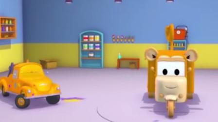 汽车城之拖车汤姆的油漆店  拖车汤姆把糖果车变成调皮的猴子