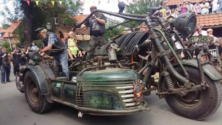 自制4.3吨摩托车, 安装坦克发动机, 体型堪比货车!
