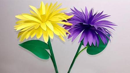 手把手教你做漂亮的手工花朵, 做法简单, 一看就会!