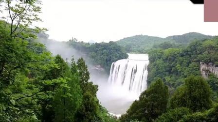 高清航拍, 位于贵州省安顺市镇宁布依族苗族自治县, 黄果树大瀑布
