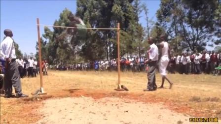 看看非洲运动员是如何练习跳高的, 这运动天赋实