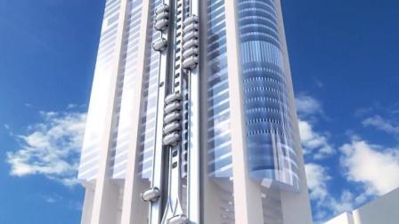 颠覆想象的未来电梯, 挂建筑外无电梯井, 如同坐过山车