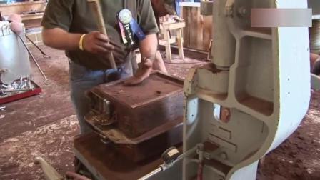 实拍10年前德国小作坊铸造金属的过程, 太长见识了