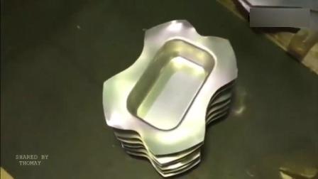 实拍国内小作坊是如何生产铝锅的, 只需一台冲压机就能开干