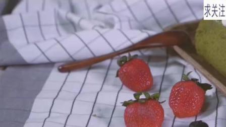 抹茶草莓蛋糕卷, 知道夏天的草莓和抹茶更配吗?