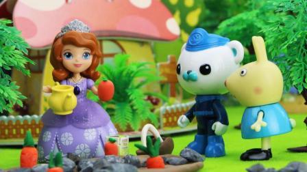 在猪爷爷的帮助下小公主苏菲亚学会了拔苗助长的道理