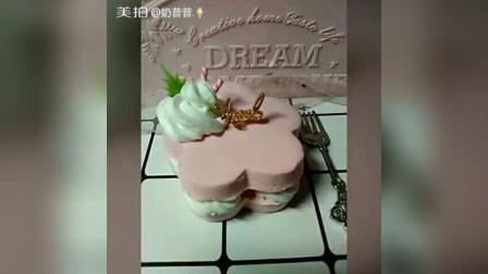 梅花心粘土蛋糕~