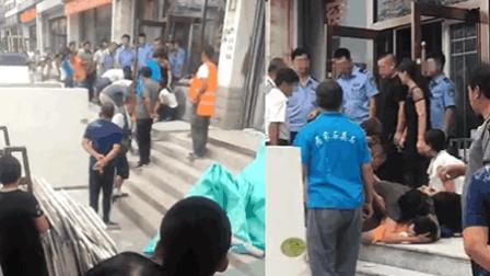 社会热点爆料 2018 8月 北京一男子被倒下的大理石板砸中身亡 家属现场悲痛欲绝