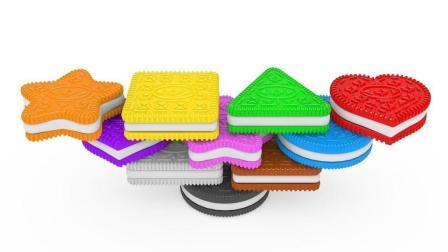 饼干玩具堆堆乐认识形状