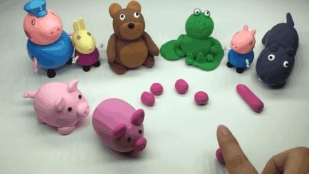 超轻粘土手工小动物, 粉色的小猪猪好可爱呀!
