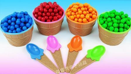 七彩豆豆冰淇淋魔力变变变! 比起太空沙冰淇淋你更喜欢哪个?