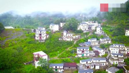 高清航拍, 贵州黔西南的新农村, 云雾缭绕像不像世外桃源?