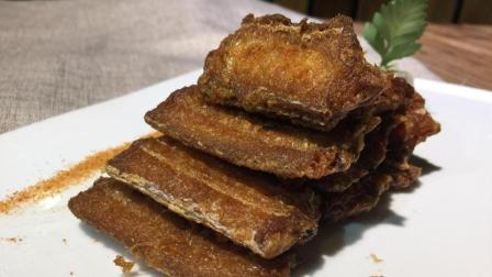 女厨师3分钟教做椒盐带鱼, 带鱼去腥有妙招, 外焦里嫩有食欲