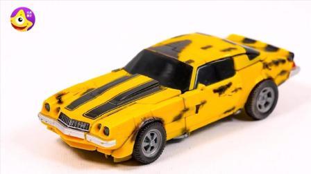变形金刚美式V8肌肉车儿童玩具 赛博坦第二代大黄蜂炫酷机器人